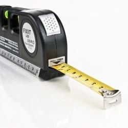 Multipurpose level laser horizon vertical measure tape