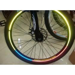 Naklejka odblaskowa na rowerowe koło felgę
