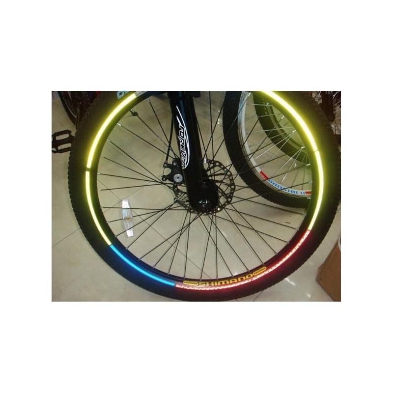 Reflecterende sticker voor fietswiel