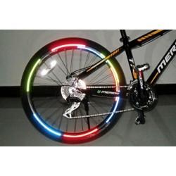 Adhesivo luminoso para ruedas bici