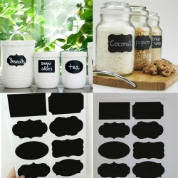 Kitchen jars black blackboard stickers 40 pcs