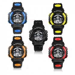 Waterproof digital LED quartz kids watch