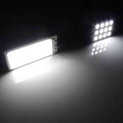 Xenon HID white - 36 COB LED light - bulb - car interior panel lamp - 12V 5500K 6000K - 2 pieces