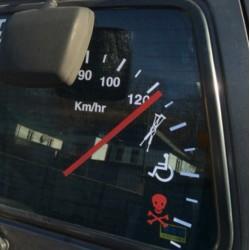 Prędkościomierz samochodowa winylowa naklejka