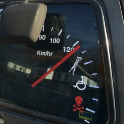 Speedometer vinyl car decal sticker