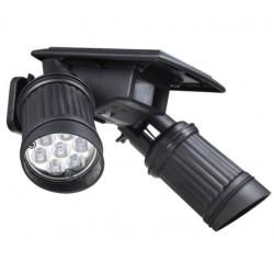 14LED LED lampa solarowa - PIR czujnik ruchu - podwójna głowica - reflektor - regulowane wodoodporne światło ścienne