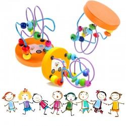 Juguete para bebès de madera y perlas