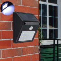 Luz sensor movimiento a energìa solar impermeable 12 LED
