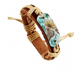 Women's retro leather bracelet