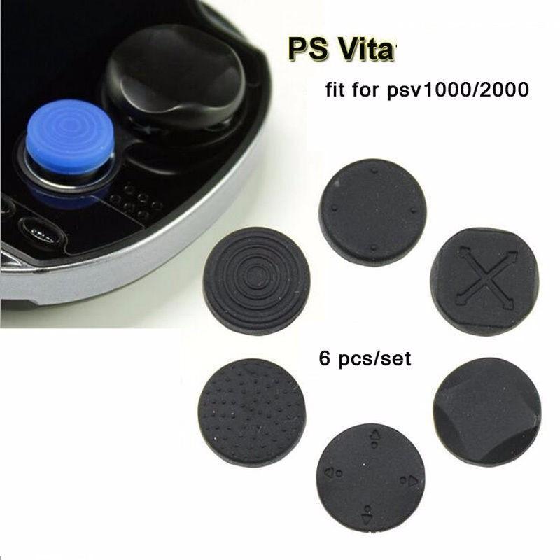 Cubiertura botones de silicona para PlayStation PS Vita 6pcs