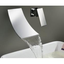 Robinet cascade cromè pour mur baigne