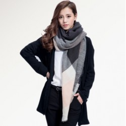 Fashion Women's Plaid Scarf Shawl
