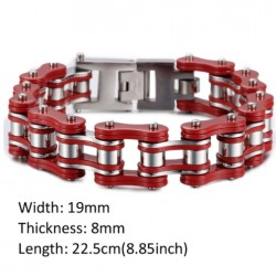 Bike Motorcycle Link Stainless Steel Men's Bracelet