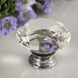 Pomo de puerta de diamante de cristal de 30 mm - cajón - armario - tirador