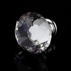 Bouton de porte diamant cristal 30 mm - tiroir - armoire - poignée