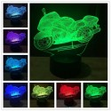 3D Shark Touch Control 7 Colors Change USB LED Night Light