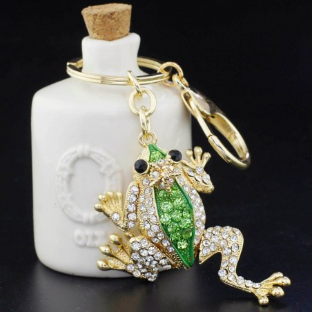 Chrystal crown & frog - keyring