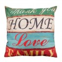 Letters Pattern Pillowcase Cushion Cover Cotton 45*45cm