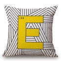 Yellow Style Love Pillowcase Cushion Cover Cotton 45*45cm