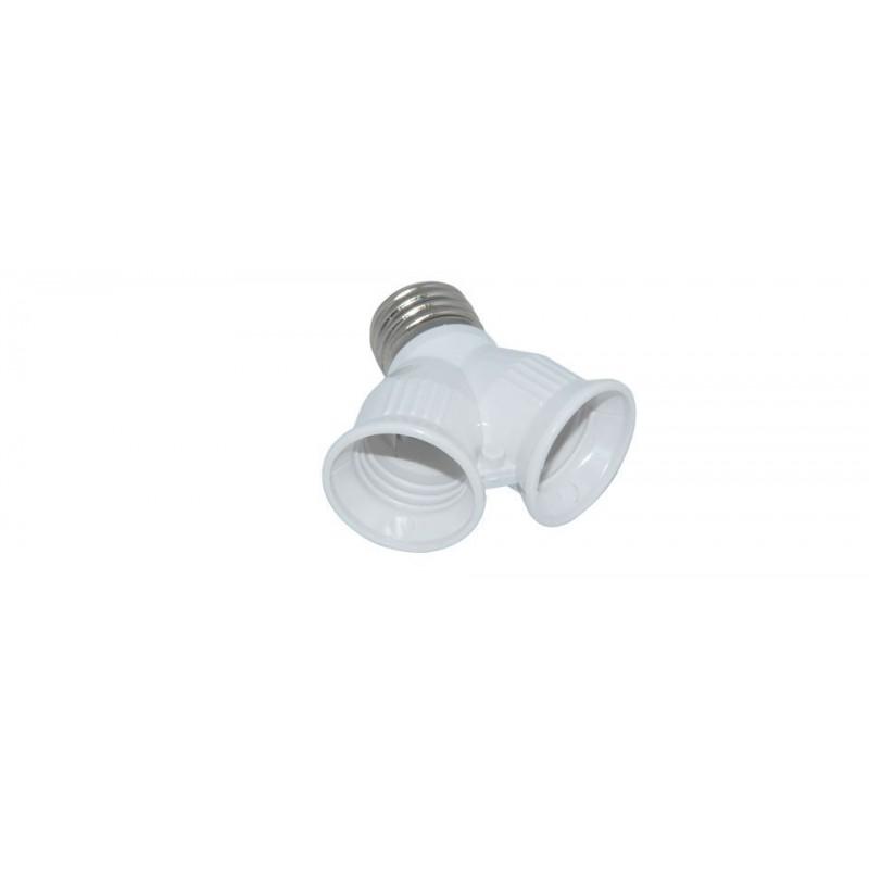 E27 bis E27 1 bis 2 Lampe Feuerfester Steckdosen Steckverbinder Adapter