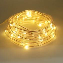 7M 50Leds Solar LED Robe Tube String Lights