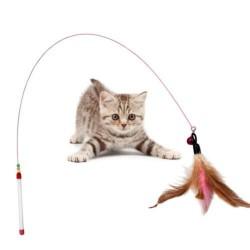 Giocattolo per Gatti con Filo e Piuma