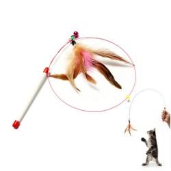 Juguete para Gatos con Hilo y Pluma