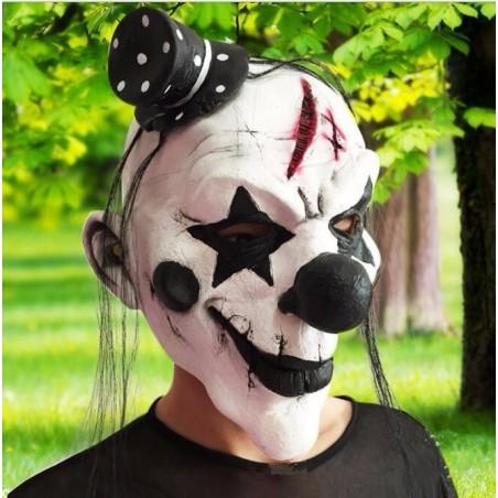 Masque clown Halloween de silicone