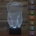 3D RGB Led Dental-Lampe USB