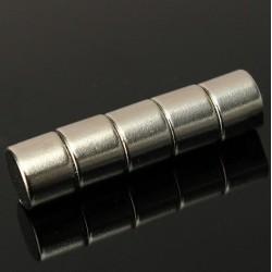Disco Redondo de Neodimio Magnético N35 10 x 8 mm 5pcs