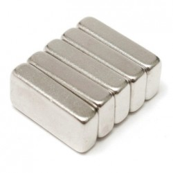 N35 Neodymium Magnet Strong Block 20 * 10 * 5mm 5pcs