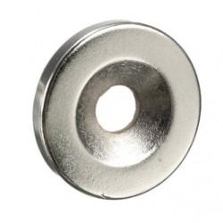 Disco Magnético de Neodimio con Hueco 5 mm N35 20 * 3 mm