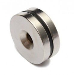 N35 Neodymium Magnet Strong Countersunk Ring With 5mm Hole 30 * 5mm 2pcs