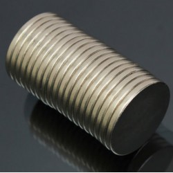 N52 Neodymium Magnet Strong Disc 20 * 2mm 20pcs