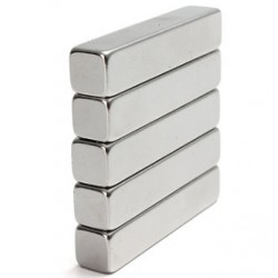 N35 Neodymium Magnet Strong Block 50 * 9 * 9mm 5pcs