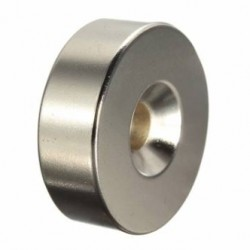 N35 Neodymium Magnet Strong Ring 30 * 10mm With 6mm Hole