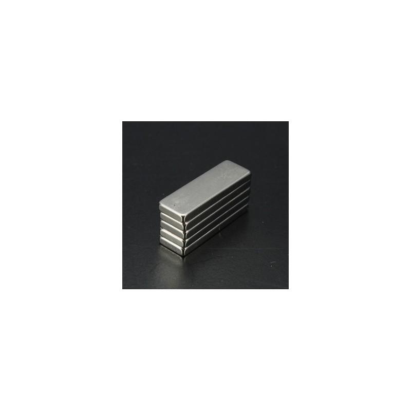 N35 Neodymium magnet strong cuboid block 30 * 10 * 3mm 5 pieces