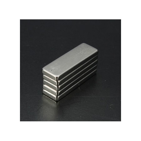 N35 Neodymium Magnet Strong Cuboid Block 30 * 10 * 3mm 5pcs