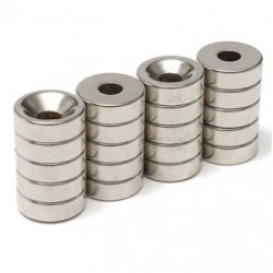 N35 Neodymium Magnet Strong Ring Countersunk With 5mm Hole 15 * 5mm 20pcs