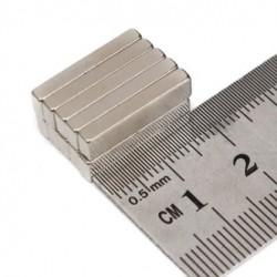 Imán de neodimio N35 - imán de bloque fuerte - cuboide 20 * 5 * 3 mm 10 piezas