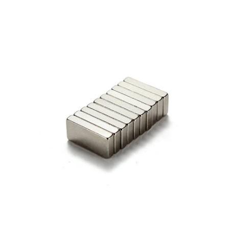 N35 Imán rectangular de neodimio 10 * 5 * 2 mm 10 piezas