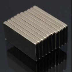 N52 Bloc Magnétique de Neodymium 20 * 10 * 2mm 10pcs
