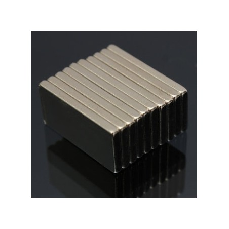 N52 Bloque Magnético de Neodimio 20 * 10 * 2mm 10pcs