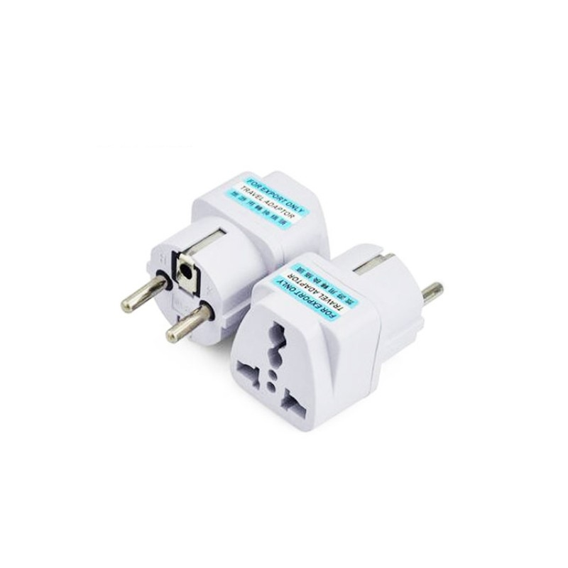 International Travel Universal Adapter Electrical Plug For UK US EU AU to EU European Socket Converter White