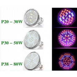 E27 LED Plant Grow Light 30W - 50W - 80W Full Spectrum Hydroponic
