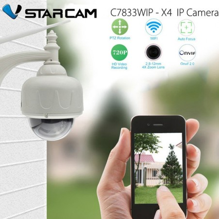 Vstarcam C7833WIP Waterproof Outdoor HD 720P Wireless Wifi PTZ Security IP Camera Auto Focus Optical X4 Zoom