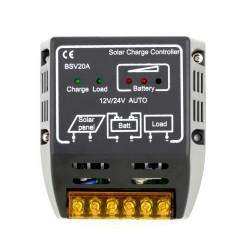 20A 12V/24V Controller Carica per Pannello Solare