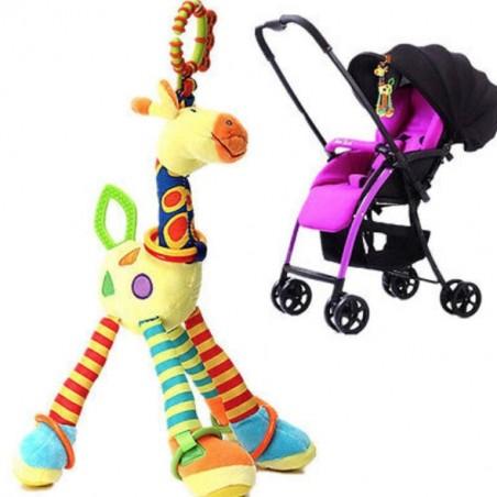 Weiche Giraffe Tierspielzeug Kinderwagen Bett Aufhänger