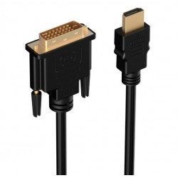 HDMI do DVI 24+1 Pin Adapter Pozłacany Męski do Męskiego Kabel