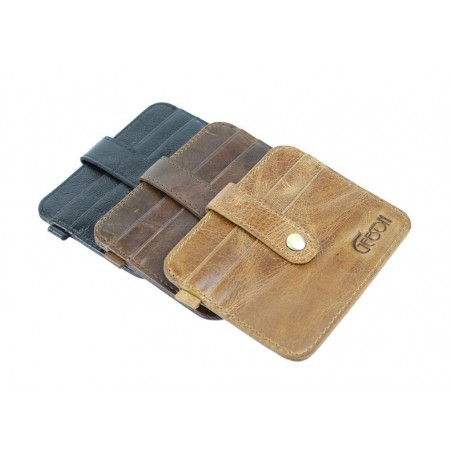 Genuine Leather Men's Credit Card Holder Wallet